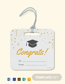 Free Graduation Gift label Template