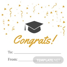 Graduation Gift label Template