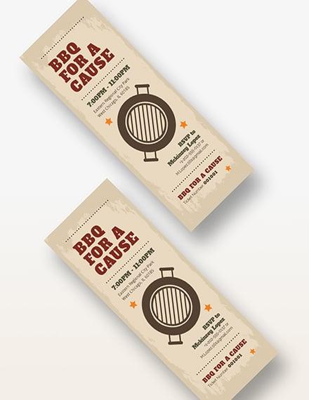 Sample BBQ Fundraiser Ticket
