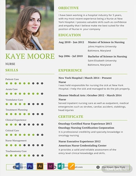 Free Nursing Resume Template
