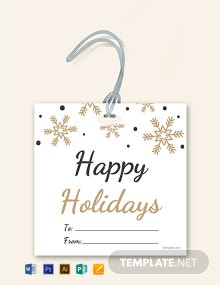 Free Holiday Gift Label Template