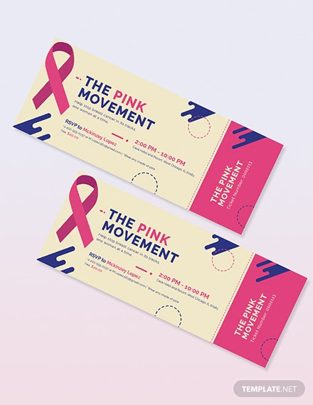 Sample Cancer Fundraiser Ticket