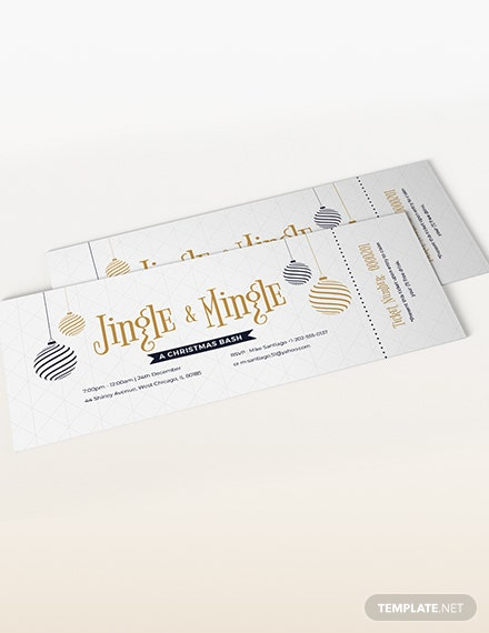 Sample Christmas Party Ticket
