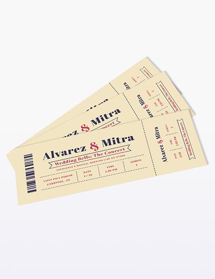 Concert Ticket Wedding Invitation Download