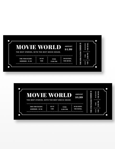 Movie Night Ticket Invitation Download