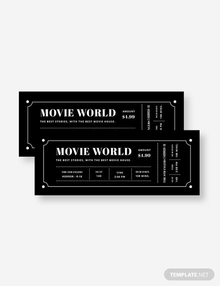 Movie Night Ticket Invitation Template