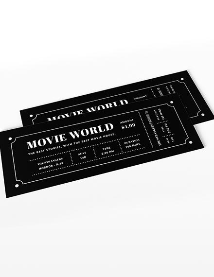 Sample Movie Night Ticket Invitation