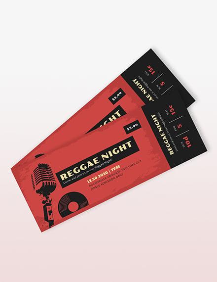 Music Concert Event Ticket Template