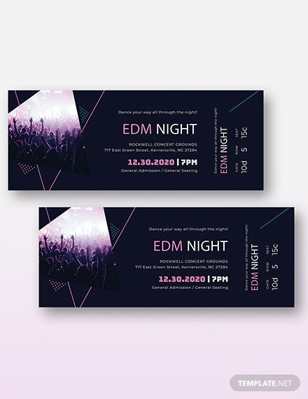 Music Theme Event Ticket Download