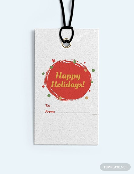 Free Holiday Label Template