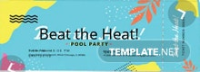 Pool Party Ticket Template