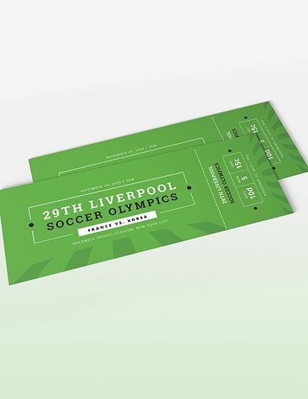 Sample Soccer Ticket Invitation