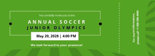 Soccer Ticket Invitation Template