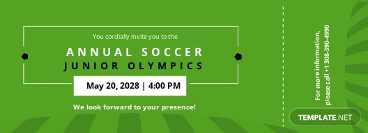 Soccer Ticket Invitation Template