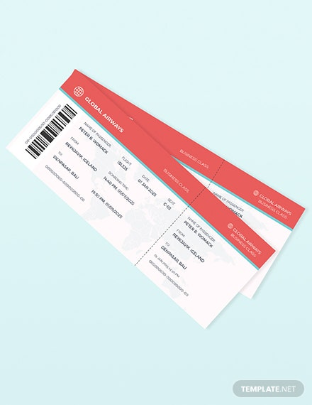 Travel Ticket Invitation Template