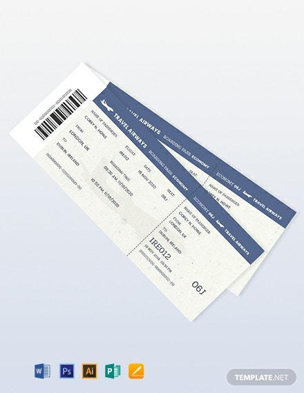 Vintage Travel Ticket Template