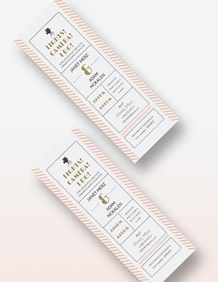 Sample Wedding Invitation Movie Ticket