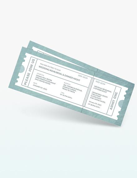 Wedding Rehearsal Dinner Ticket Download