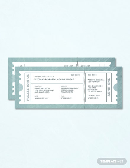 96 free ticket templates download ready made template net