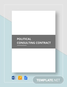 Political Consulting Contract Template