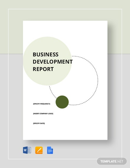 business development report 4