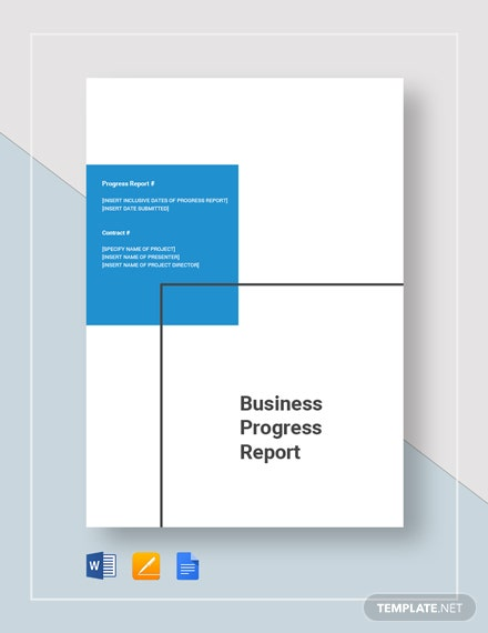 business progress report 4