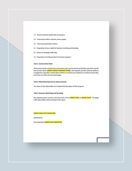 Business Progress Report Download