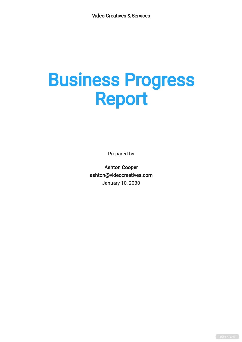Business Progress Report Template.jpe