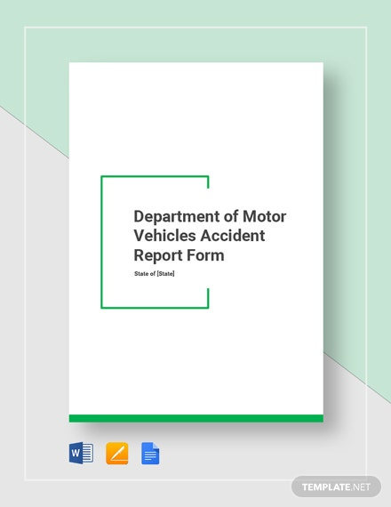 dmv accident report form 2