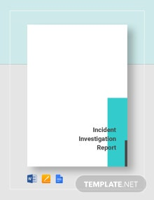 Incident Investigation Report Template