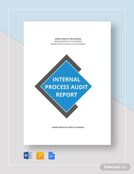 Internal Process Audit Report Template