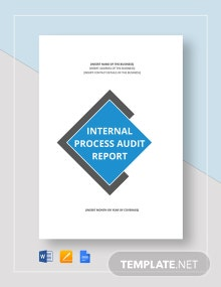 Internal Process Audit Report Template