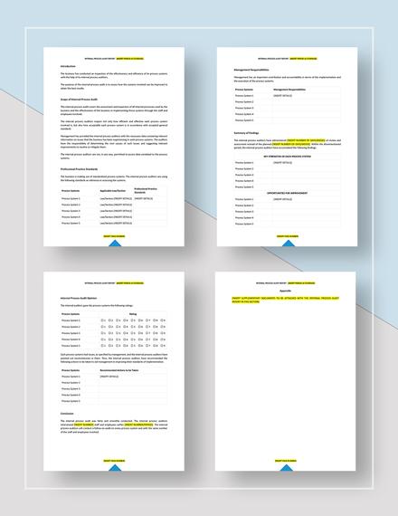 Internal Process Audit Report Download