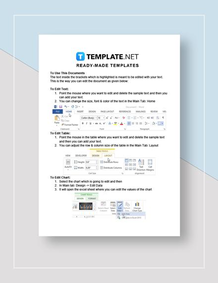 Internal Process Audit Report Instructions