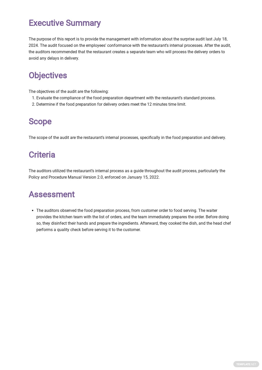 Internal Process Audit Report Template 1.jpe