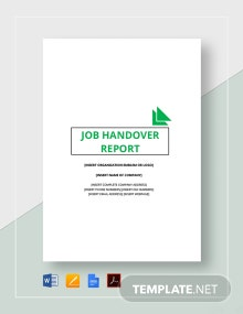 Job Handover Report Template