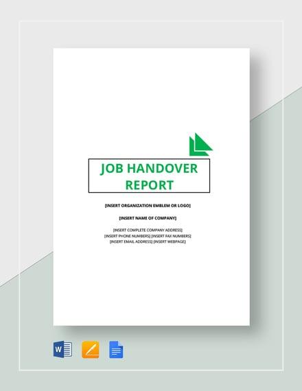 job handover report 2