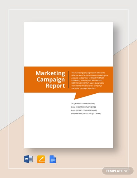 Marketing Campaign Report Template