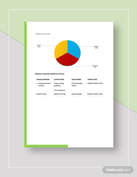 Sample Monthly Product Management Report