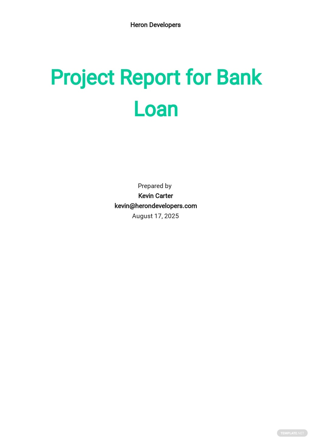 Project Report for Bank Loan Template