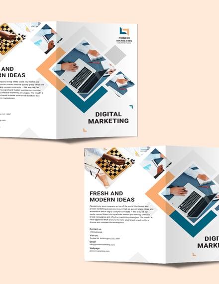 marketing agency bi fold brochure