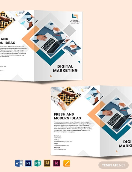 Marketing Agency Bi-Fold Brochure Template