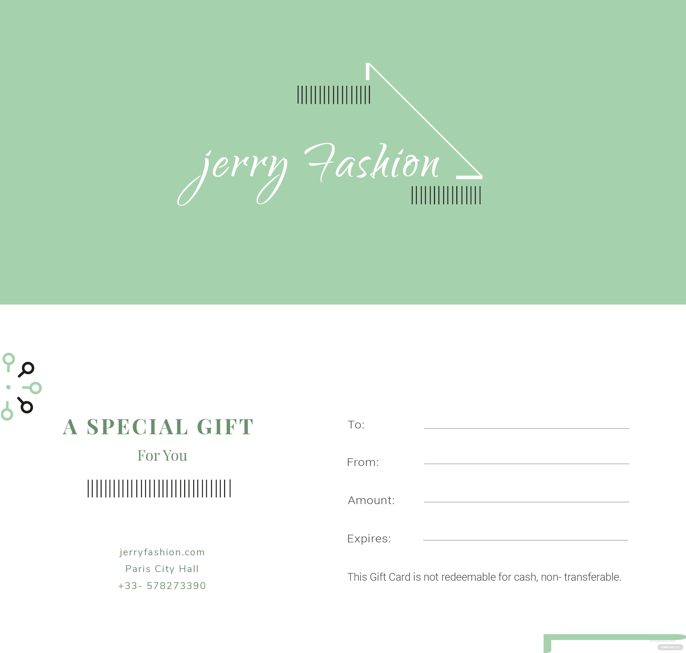 free fashion store gift certificate template in adobe