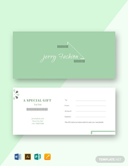 Free Fashion Store Gift Certificate Template