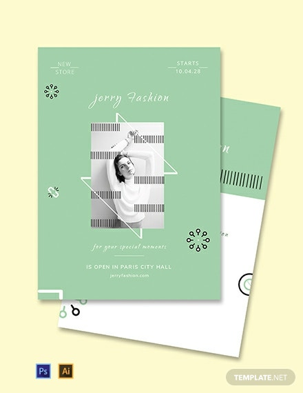 Free Fashion Store Invitation Template