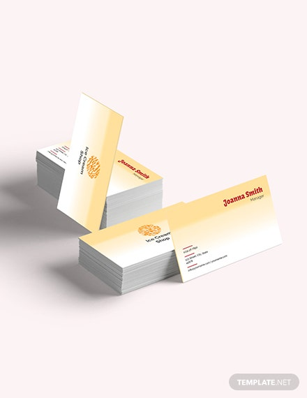 Sample Ice Cream Business Card