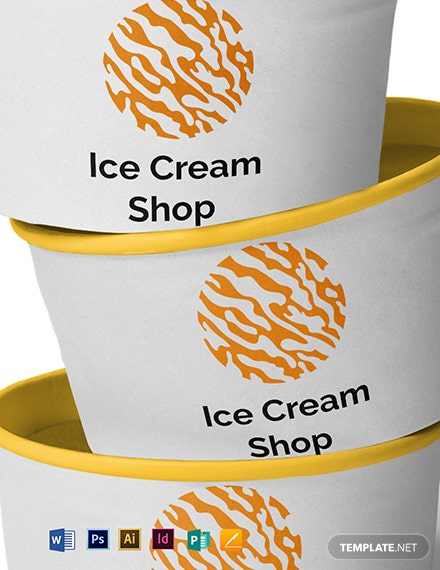 Ice Cream Logo Design Template