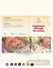 Ice Cream Bi-Fold Brochure Template