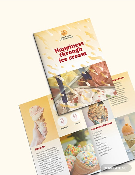 Sample Ice Cream Bi fold Brochure
