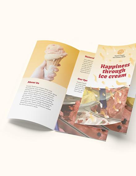 Ice Cream Trifold Brochure Download
